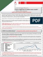 CARMA Media Analysis iPhone 5