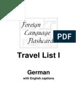 Travel List German 1