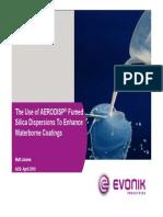 Use of Aerodisp Fumed Silica Dispersions