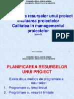 Cursul 3 Resurse Evaluare Proiecte