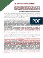 Aspectos Fiscales de La Apertura Petrolera en México