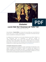 Entrevista a Lauren Kate sobre el set de Fallen