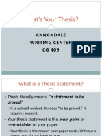 What is Your Thesis