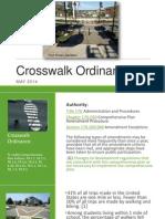 Crosswalk Ordinance PowerPoint - Candace Mumm