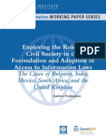 Role of Civil Society in RTI LAW