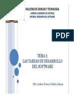 Las Tareas de Desarrollo Del Software