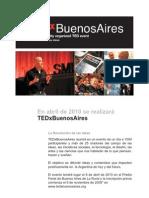 09-11-09 Comunicado de Prensa TEDxBuenosAires