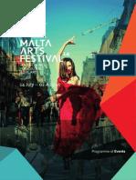 Malta Arts Festival Programme of Events