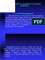 1. Managementul Modern in Conceptie Sistemica