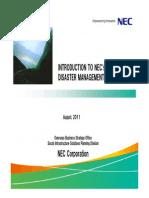 1 NEC Disaster Management