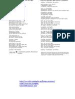 Canciones en Ingles Letters