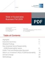 State of Sustainable Business Poll 2009