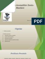 Profilaxia Anomaliilor Dento- Maxilare