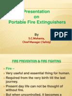 Presentation on Fire Extinguishers