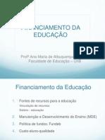 Ana_ Financiamento Da Educação