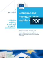 Economic and Monetary Union and the Euro