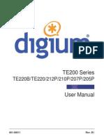 Digium Te200 Series User Manual