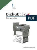 Bizhub c252 Um Box-operations en 1-1-0 Phase3