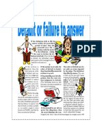Default or Failure to Answer