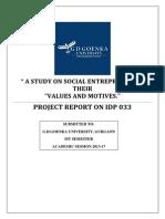 Introduction for Social Entrepreneurship