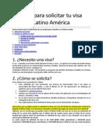 Guía Para Solicitar Tu Visa_Latino América