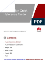 Datacom Certification Quick Reference Guide(Huawei Internal)V2.0 20100415