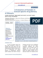 Formulation & Evaluation of Floatable Insitu