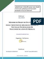 Création d'Une Plateforme Virtuelle Pour Une Étude Comparative de Trois Solutions de FirewallGestionnaire d'Accès Internet