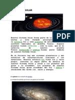 EL SISTEMA SOLAR Texto Informativo