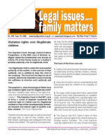 Legal Issues and Family Matters Number 008 September 30 2008