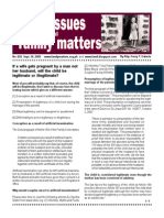 Legal Issues and Family Matters Number 020 September 30 2009