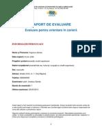 Model RAPORT de EVALUARE Pentru Consiliere in Cariera - CEICA