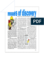Modes of Discovery