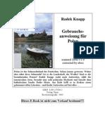 Knapp, Radek - Gebrauchsanweisung Für Polen