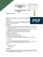 Guia de Reacciones y Ecuaciones Quimicas122 4to