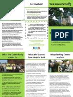 York Green Party leaflet (2013-2015)