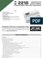 SImple Comfort 2210 manual