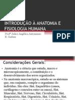 Aula 1 - Introdução à Anatomia e Fisiologia Humana
