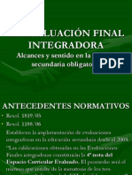 LA EVALUACIÓN FINAL INTEGRADORA.ppt