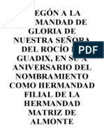 PREGÓN Rocio 2014