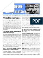 Voidable Marriages