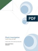 Physic Investigation 3