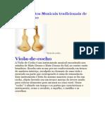VIOLA de COCHO - Instrumentos Musicais Tradicionais de Mato Grosso