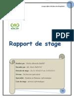 Rapport de Stage Fadila Manalle SABRY