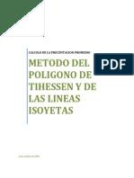 118232577 Informe III Metodo Del Poligono de Thiessen Metodo de Las Lineas Isoyetas