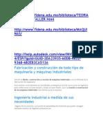 Fabricacíón y Construcción de Todo Tipo de Maquinaria y Máquinas Industriales