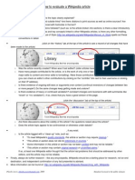 How to Evaluate a Wikipedia Article