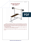 Olympic Flat Bench With Weight Set