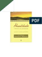 Humildade, A Beleza Da Santidade-estudo i