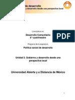 Unidad 3. Gobierno y Desarrollo Desde Una Perspectiva Local, la información está completa
